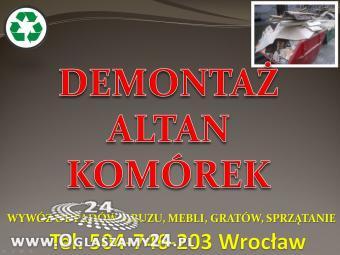 Wrocław Rozbiórka Altan Cennik Demontaż Rozebranie